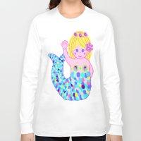 mermaids Long Sleeve T-shirts featuring Mermaids by SqueakyAngel