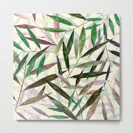 Bamboo Leaves 2.0 Metal Print