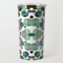 Watercolor circles Travel Mug
