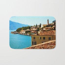 Limone Sul Garda Lake Garda Italy photo painting  Bath Mat