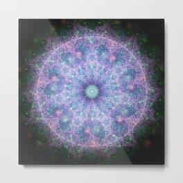 Cosmic Fractals Mandala Metal Print