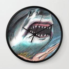 shark woman Wall Clock