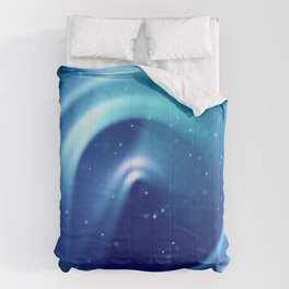 Center of Blue Galaxy Comforters