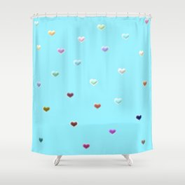 Hearty pattern Shower Curtain