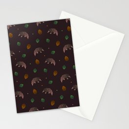 Pangolins, Pinecones, and Artichokes Stationery Cards