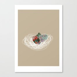 Eggs in a nest Canvas Print