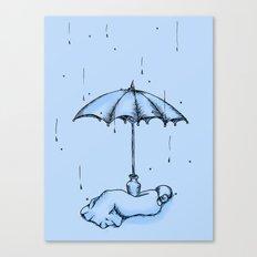 Rain Rain Go Away! Canvas Print