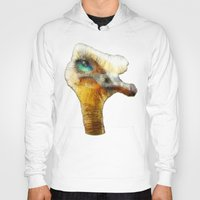 karu kara Hoodies featuring abstract ostrich by Ancello