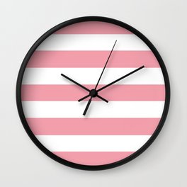 Sweet Sixteen - solid color - white stripes pattern Wall Clock