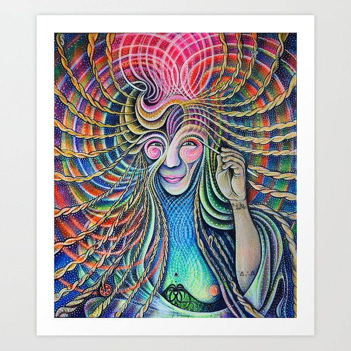 26 - Self Portrait of a being of flowing energy Art Print
