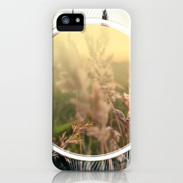 Peel sunset lll - circle graphic iPhone Case