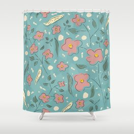 Delicate flowers in Magical Forest Shower Curtain