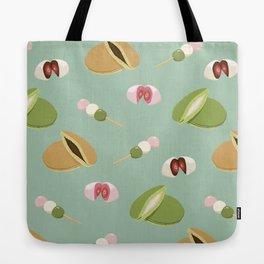 Japanese sweets (Green) Tote Bag