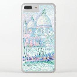 "Paul Signac ""Venise. La Salute Vert"" Clear iPhone Case"