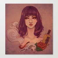 tequila Canvas Prints featuring Tequila by Tae V