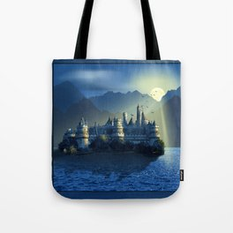Fairy Castle In Mystic Blue Tote Bag