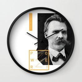 Friedrich Nietzsche - POWER Wall Clock