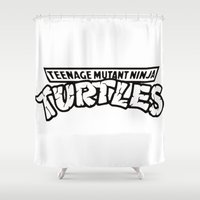 tmnt Shower Curtains featuring TMNT by Unicity