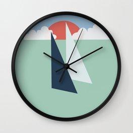 Regatta pastel Wall Clock