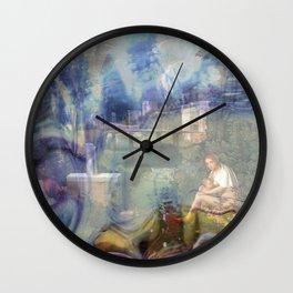 giorgione la tempesta Wall Clock