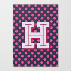 H is for Happiness Canvas Print