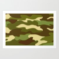 camo Art Prints featuring CAMO by Bruce Stanfield