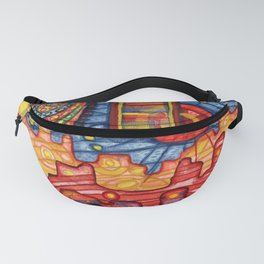 Rider Rida Rode Over Rainbow City Fanny Pack
