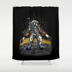Texas Chainsaw Astronaut Shower Curtain