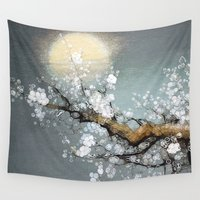 valentina Wall Tapestries featuring Winter Moon by Joke Vermeer