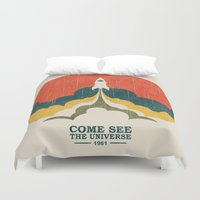 propaganda Duvet Covers featuring Come See The Universe by Picomodi