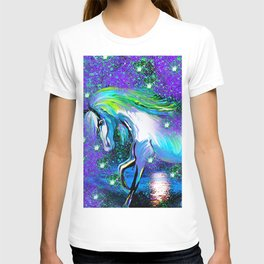HORSE DANCING IN STAR LIGHT AND MOON DUST T-shirt