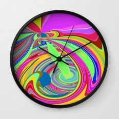 Re-Created  Sour Candy 8 by Robert S. Lee Wall Clock