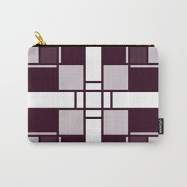 Neoplasticism symmetrical pattern in pinkish gray Carry-All Pouch
