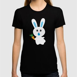 One Tooth Rabbit Ghost and Carrot T-shirt