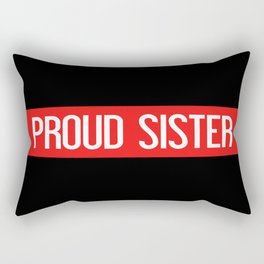 Firefighter: Proud Sister (Thin Red Line) Rectangular Pillow