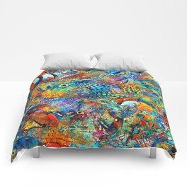 Tropical Beach Art - Under The Sea - Sharon Cummings Comforters