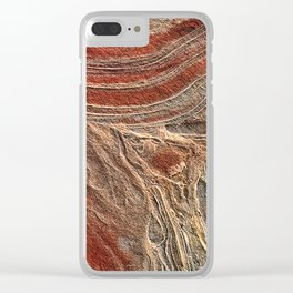 Paris Wilderness: Sandstone Pattern at the Wave Clear iPhone Case