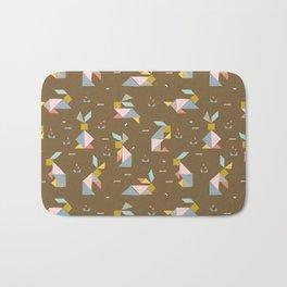 Tangram Bunnies M+M Nutmeg by Friztin Bath Mat