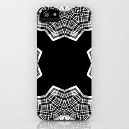 Optical Illusion Plaid Deconstructed Black White iPhone Case