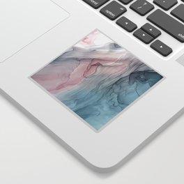 Calming Pastel Flow- Blush, grey and blue Sticker