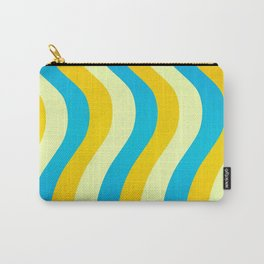 Blue and Gold Waves Carry-All Pouch