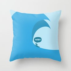 WTF? Surf! Throw Pillow