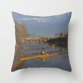 Thomas Eakins - The Champion Single Sculls (Max Schmitt in a Single Scull) Throw Pillow