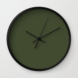 Cedar Creek ~ Moss Green Wall Clock