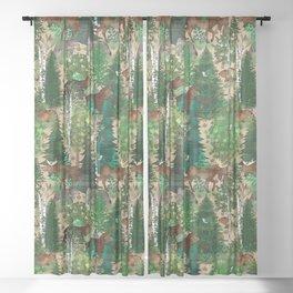 Woodland Wildlife Sheer Curtain