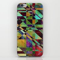 the fault iPhone & iPod Skins featuring Fault Lines by Klara Acel