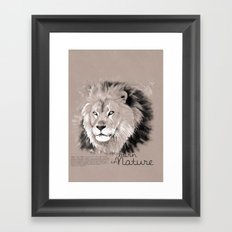 Lion (BornInNature) Framed Art Print