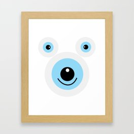 Funny polar bear face Framed Art Print
