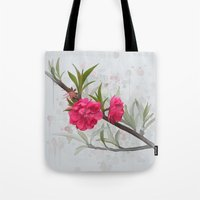 blossom Tote Bags featuring Blossom by IvanaW