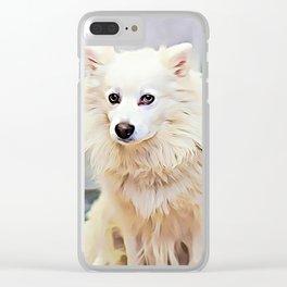 American Eskimo Dog Clear iPhone Case